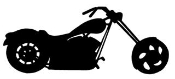 Chopper Silhouette v2 Decal Sticker