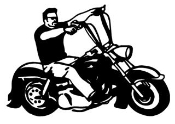 Man On Motorcycle v2 Decal Sticker