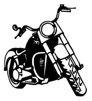Motorcycle Front View v2 Decal Sticker