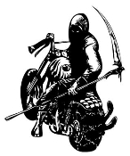Reaper On Chopper Decal Sticker