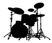 Drum Set v2 Decal Sticker