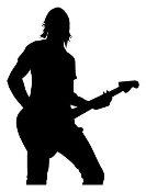 Guitarist v1 Decal Sticker