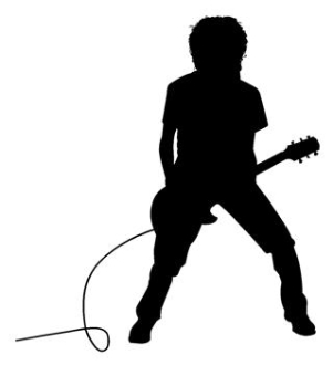 Guitarist v3 Decal Sticker