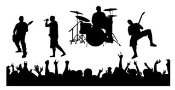 Rock Band Decal Sticker