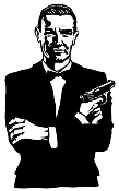 James Bond Decal Sticker