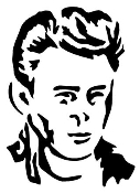 James Dean Decal Sticker