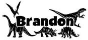 Personalized Name with Dinosaurs Decal Sticker