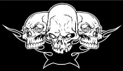 3 Skulls Decal Sticker