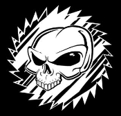 Alien Skull v2 Decal Sticker