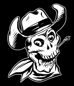 Cowboy Western Skull v3 Decal Sticker