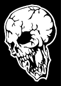 Evil Skull v1 Decal Sticker