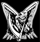Grim Reaper with Wings v1 Decal Sticker