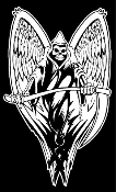 Grim Reaper with Wings v2 Decal Sticker