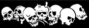 Skull Pile v1 Decal Sticker