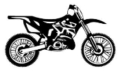 Motocross Bike v1 Decal Sticker