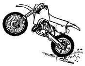Motocross Bike v2 Decal Sticker