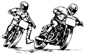 2 Flat Track Motorcycle Racers Decal Sticker