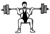 Weightlifter 2 Decal Sticker
