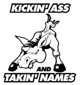 Kickin' Ass and Takin' Names 2 Decal Sticker