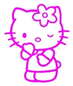Hello Kitty 1 Decal Sticker