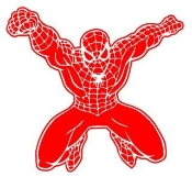 Spiderman 1 Decal Sticker