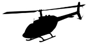 Helicopter v2 Decal Sticker