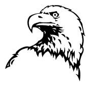 Eagle Head v3 Decal Sticker