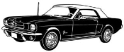 Classic Mustang Decal Sticker