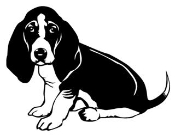 Bassett Hound v2 Decal Sticker