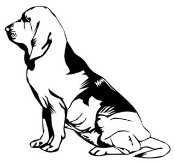 Bloodhound Decal Sticker