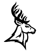 Deer Head v7 Decal Sticker