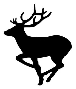Deer Silhouette v4 Decal Sticker