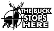 The Buck Stops Here Decal Sticker