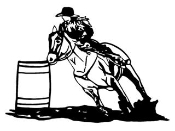 Barrel Racer v1 Decal Sticker
