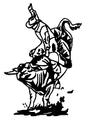 Bull Rider v3 Decal Sticker