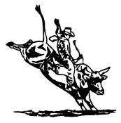 Bull Rider v4 Decal Sticker