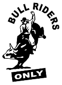 Bull Riders Only Decal Sticker