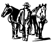 Cowboy Leading Horses Decal Sticker