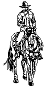 Cowboy on Horseback v1 Decal Sticker
