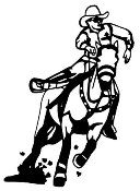 Cowboy on Horseback v2 Decal Sticker