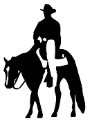 Cowboy on Horseback v4 Decal Sticker