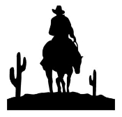 Cowboy on Horseback Desert Decal Sticker