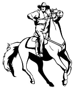 Cowgirl on Horseback Decal Sticker