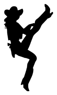 Cowgirl Silhouette v2 Decal Sticker