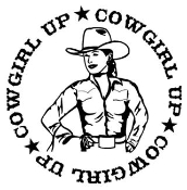 Cowgirl Up Circle Decal Sticker