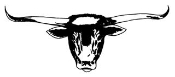 Longhorn Cattle Head Decal Sticker