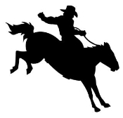 Saddle Bronc Silhouette Decal Sticker