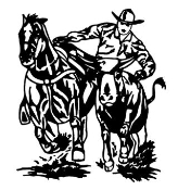 Steer Wrestling v2 Decal Sticker