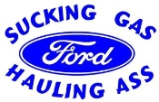 Sucking Gas Ford Decal Sticker