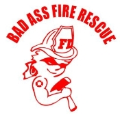 Bad Ass Fire Girl Decal Sticker